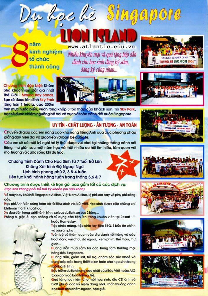 Hấp dẫn du học Hè Singapore