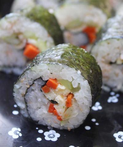 Món kimbap do bạn Như Yến làm.