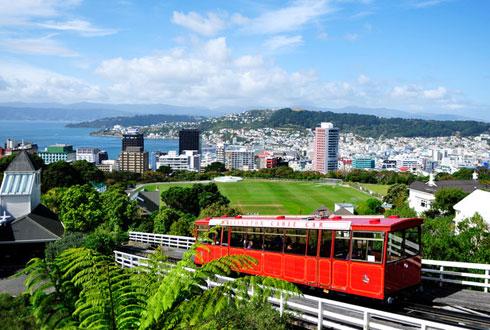 Thủ đô Wellington với nhiều xe điện.