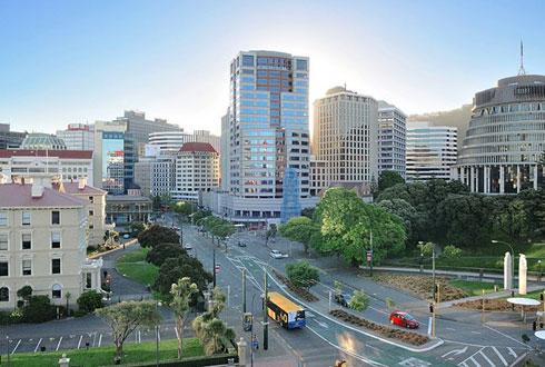 Một góc trung tâm thành phố Wellington.