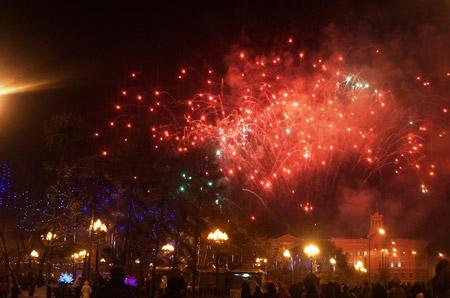 Những màn pháo hoa rực rỡ đón chào năm mới tại xứ Tuyết