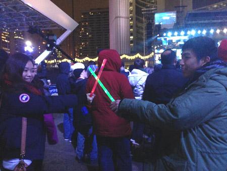 Năm mới cũng đã gõ cửa ở Canada, một trong những nơi bước sang năm 2013 muộn nhất thế giới