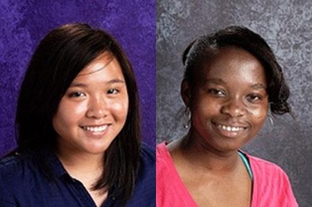Ngan Nguyen (trái) và bạn cùng trường Kennedy vinh dự giành 2 suất học bổng Gates Millennium