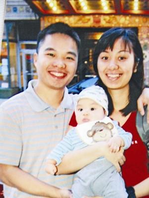 TS Nguyễn Phúc Cường, vợ và con trai ở Mỹ