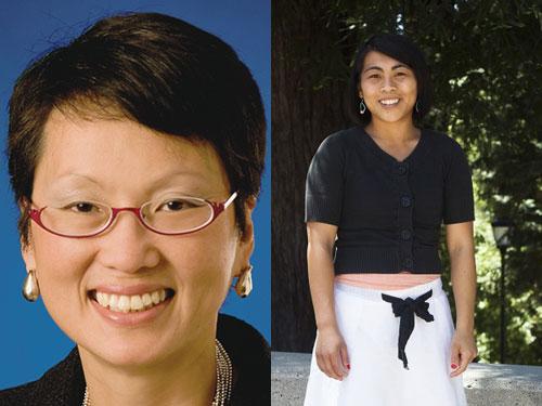 Van Ton-Quinlivan (trái) và Ming Dang