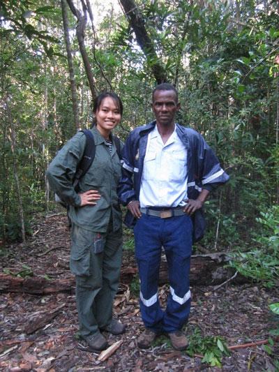 Trang trong chuyến nghiên cứu ở Madagascar