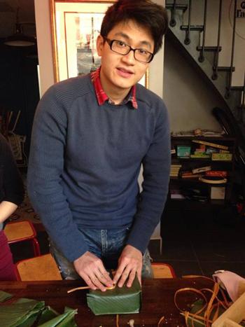 Bạn Vũ Hoàng Long, chủ tịch 9x đầu tiên của chi hội sinh viên Việt Nam tại Paris