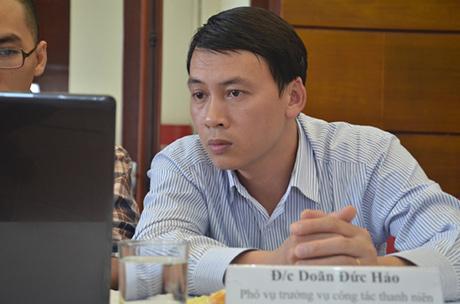 Ông Doãn Đức Hảo, Phó Vụ trưởng vụ công tác thanh niên, Bộ Nội vụ (Ảnh: báo Tiền phong)