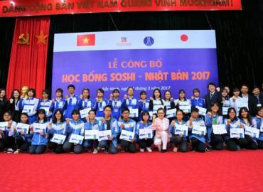 LỄ CÔNG BỐ HỌC BỔNG SOSHI 2017 TẠI BẮC NINH