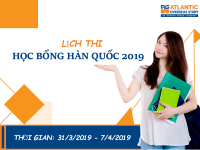 Lịch thi học bổng hq 2019