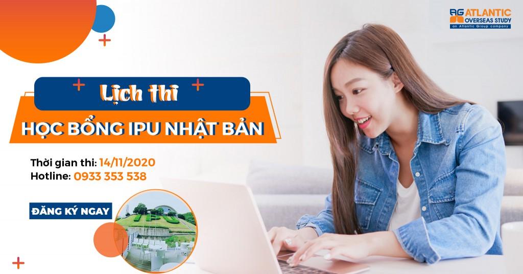 Lịch thi học bổng IPU Nhật Bản 2021