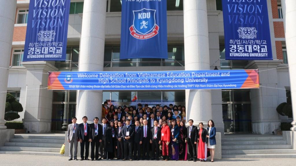 Chuyến đi thực tế của Sở GD & ĐT Hà Nội thăm ĐH Kyungdong, Hàn Quốc